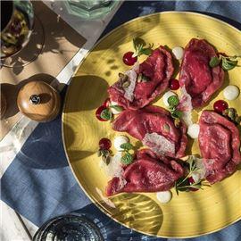 Seasonal dishes in the RYNEK restaurant